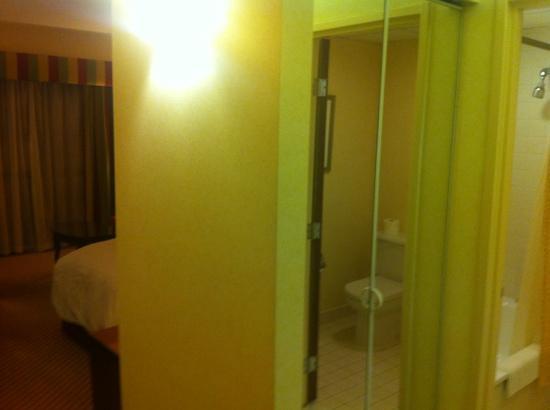 Cheshunt Marriott Hotel: the wardrobe next to the bathroom at 111