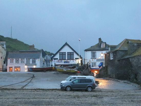 Slipway Hotel: The Slipway (Right background) early summer evening
