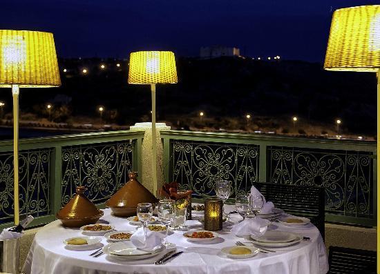 L'Amandier Palais Faraj : Terrasse du restaurant