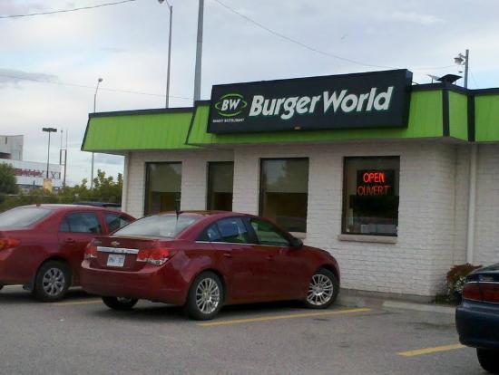 Ouside view of Burger World, North Bay, Ontario