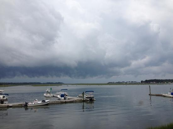 Etta's Channel Side Restaurant : storm clouds over the channel yet still beautiful