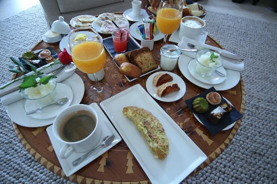Riad Villa Blanche : Petit déjeuner