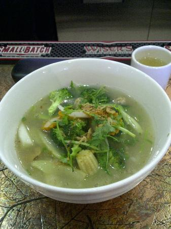 Vi La Palace Vietnamese Restaurant : Chicken Soup (Pho) with homemade noodles and veggies
