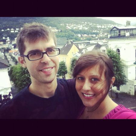 Hotel Park Bergen: David (Hubby) and I on balcony