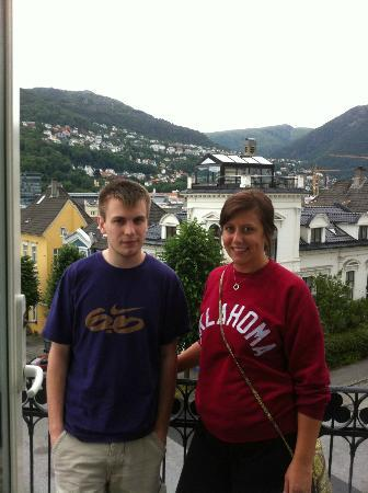 Hotel Park Bergen: Max (Brother) and I on balcony