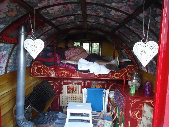 The Blue House Bed and Breakfast: Cosy gypsy caravan