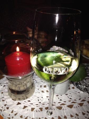 Wein im Kerzenlicht