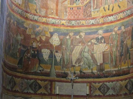 Benedictine Convent of Saint John Müstair: Fresco at Mustair convent