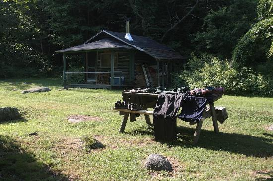 Katahdin Lake Wilderness Camps : Drying the clothes at the camp