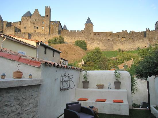 La Posada del Castillo B&B: Vue depuis la terrasse