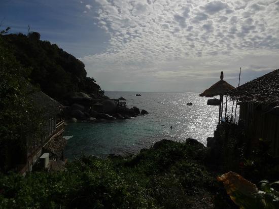 Charm Churee Villa: Blick auf die Bucht vom Zimmer aus
