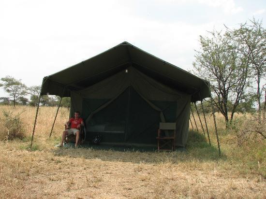 Serengeti Halisi Camp: our tent
