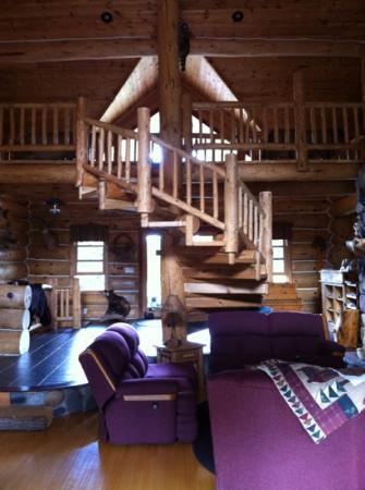 The Listening Inn: staircase