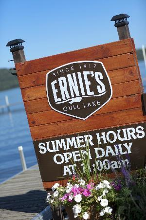 Ernies On Gull: Open Daily Year Round At 11:00am