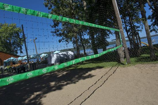 Ernies On Gull: Lakeside Sand Volleyball Court