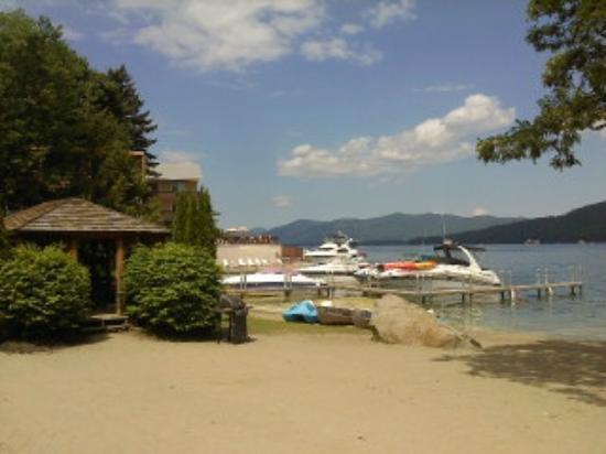 Marine Village Resort: view north of beach - see gazebo in leftside of pic