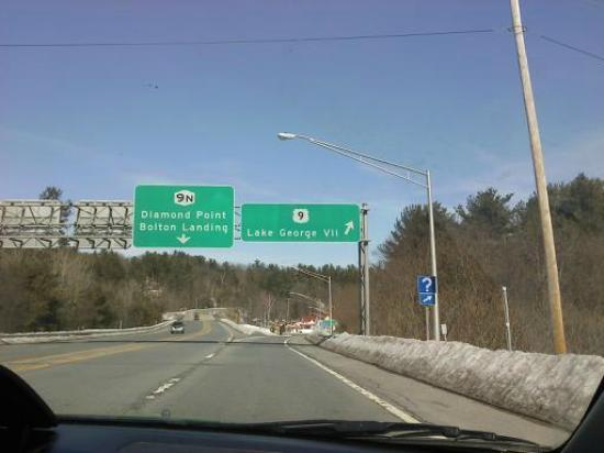 Marine Village Resort: our exit off 87N!!!! Just about a mile south on Route 9...