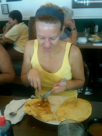 Uncle Buck's Family Restaurant: Pancake for Breakfast - they are huge!!!