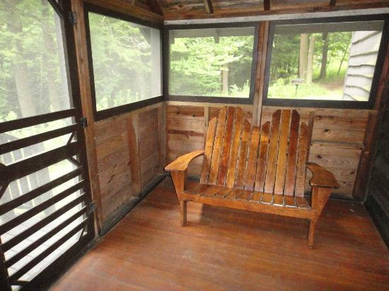 Gilbert Lake State Park: back porch