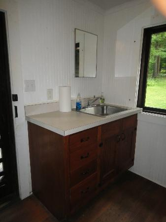 Gilbert Lake State Park: kitchen sink (only cold water)