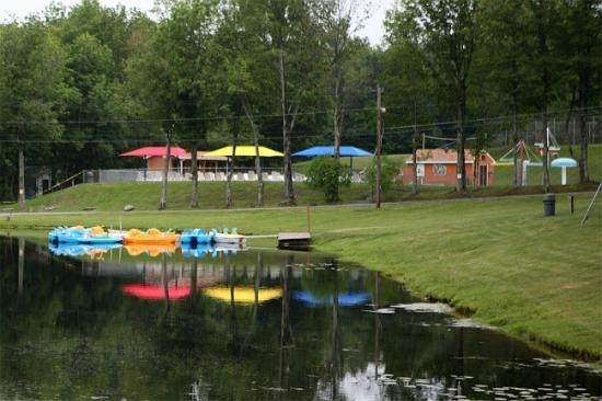 Yogi Bear's Jellystone Park at Birchwood Acres: The Lake, with a view of the pool