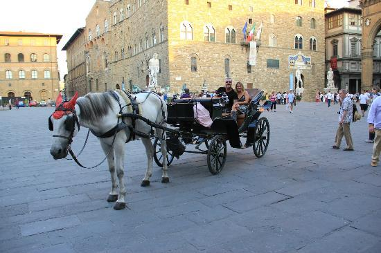 La Casa del Garbo: horse & carriage rides outside the hotel