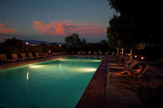 Evening at the Pool at Hotel Albuquerque at Old Town
