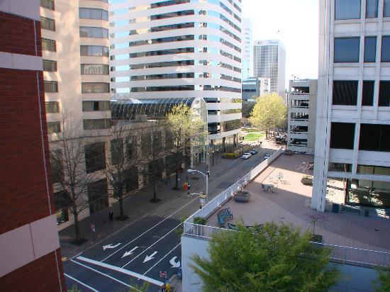 The Berkeley Hotel: views of Richmond from top floor
