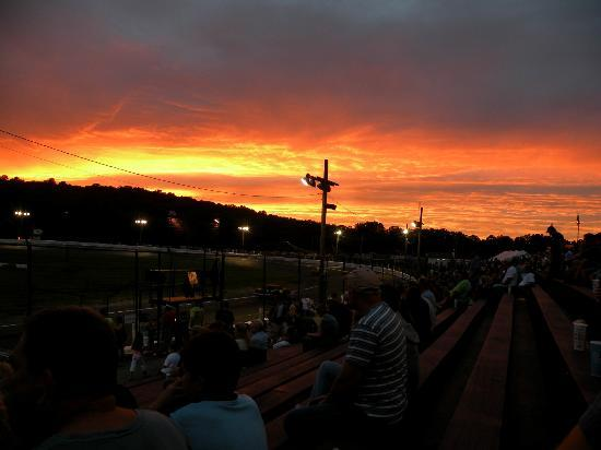 Waterford Speedbowl: Overlooking the stands