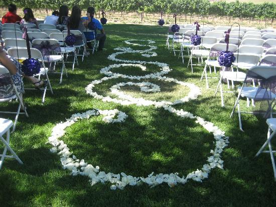 Sawtooth Winery wedding aisle