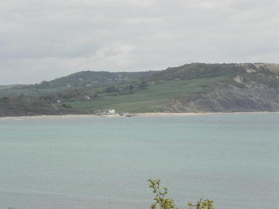 The London Guesthouse: A view of Lyme Bay from the garden.