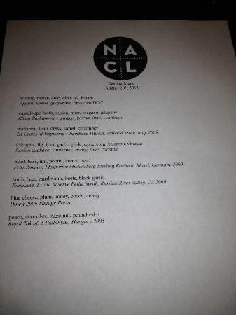 Salt of the Earth: Tasting menu on 2012-08-20