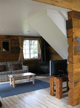 Denali Fireside Cabins & Suites: A view of the living room