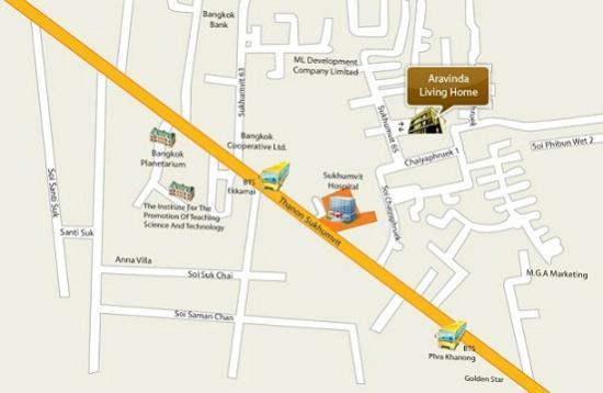 Aravinda Living Home: Map