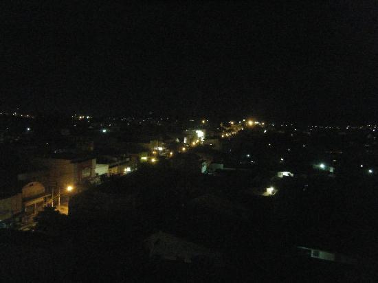 Maninarakorn Hotel: View from room at night