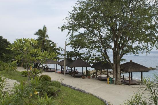 Palm Beach Resort: It's a very private beach resort,so just lay back and relax.