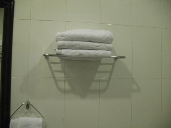 Hoa Binh Hotel: Towels in a double room