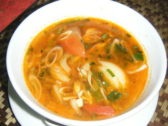 My Hot and Sour soup with big noodle dish - Picture of Siam Rice Thai ...