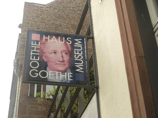 Goethe Museum: Sign out front