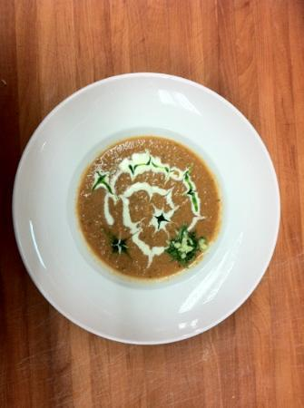 Joshua's : their garden Gazpacho with basil oil and citrus creme fraiche