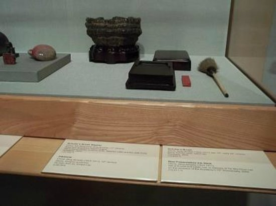 Honolulu Museum of Art: Chinese ink well, bush and stamp pad.