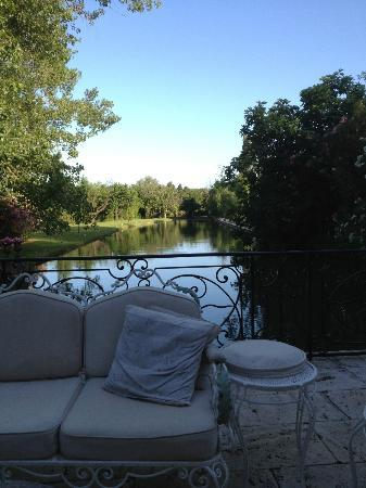 Domaine du Moulin: View of the millstream from the patio.