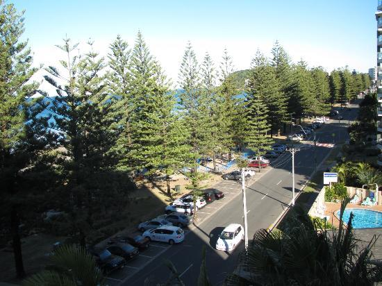 Burleigh Mediterranean Resort: View from side balcony