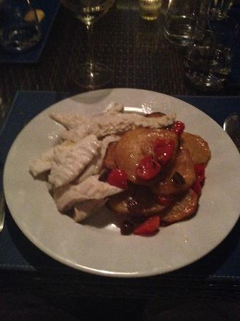 Baglioni Resort Alleluja: Rombo con patate e olive nere