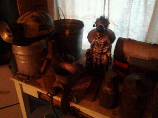 Paintsville, KY: Loretta's father's mining gear.
