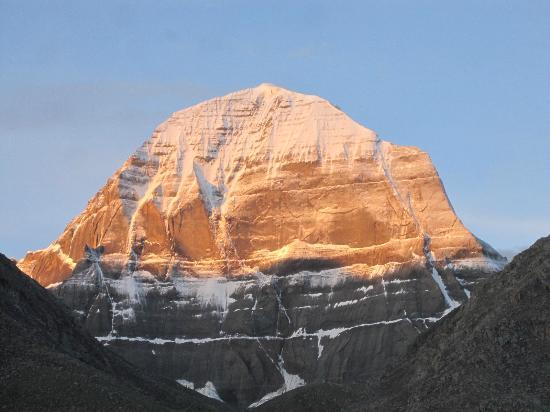 Mount Kailash : Golden Kailash after sun rays hitting the mountain