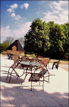 Le Chateau des Lumieres de la Baie de Somme: la terrasse