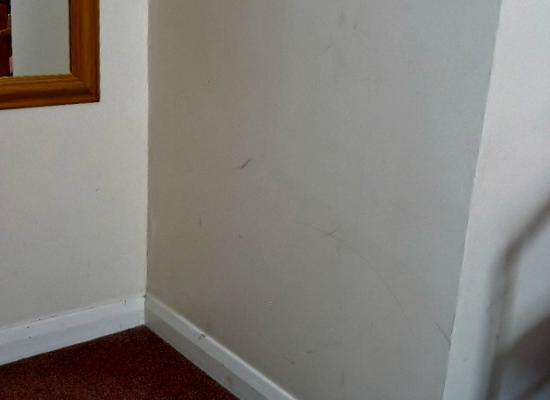 Parkbury Hotel: mor marks on walls
