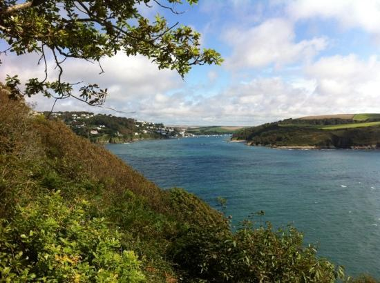 Salcombe to Bolt Head Walk: looking back to Salcombe enroute
