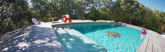 Les Cabanes Oxyzen: L'espace piscine au milieu des arbres !